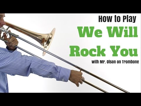 We Will Rock You - TROMBONE Tutorial