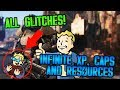 FALLOUT 4 | ALL GLITCHES INFINITE XP, CAPS AND RESOURCES *WORKING 2019*