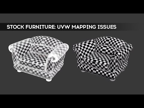 Stock Furniture: UVW Mapping Issues | 3dsMax | Video
