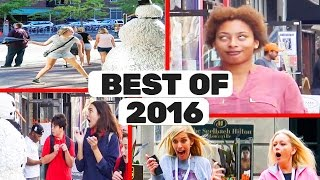 Scary Snowman Hidden Camera Practical Joke Top 20 Best Reactions of 2016