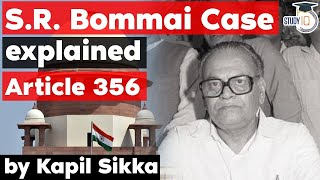 SR Bommai vs Union of India Case - Article 356 of Constitution - Rajasthan Judicial Services Exam