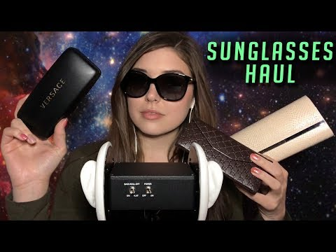 3DIO ASMR - Designer Sunglasses Haul 😎(Tapping, Rubbing, Various Triggers)