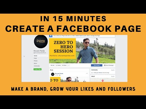 How to CREATE a Facebook page in 15 Mins   Business page & Fan page   Get more likes   Shuvam Panda thumbnail