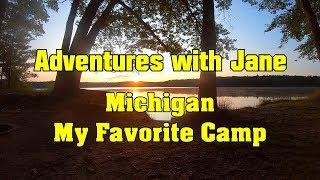 Adventures with Jane - Michigan, a favorite campsite.