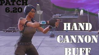 Hand Cannon Buff in Fortnite v6.20 Patch