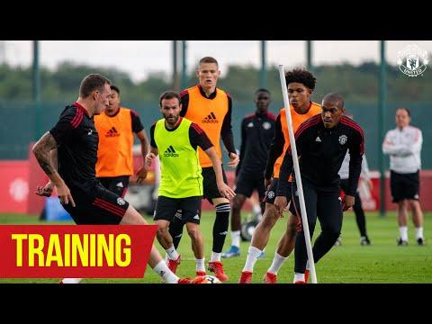TRAINING |  Solskjaer Reds hard at work ahead of West Ham trip |  United manchester