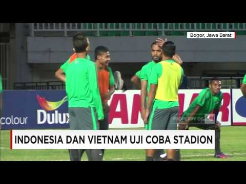 Indonesia & Vietnam Jajal Stadion Pakansari, Cibinong