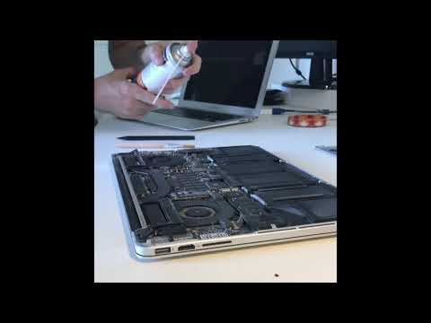How to remove the dust in your Macbook - Ep 07:  Clean the fans using the compressed air