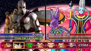 Kratos (Dios de la Guerra) VS Bills and Whis DBZ BT3 MOD
