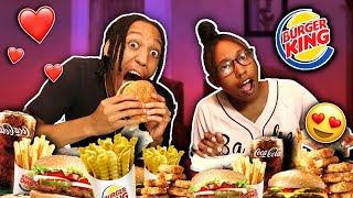 SMASH OR PASS w/ MY GIRLFRIEND | BURGER KING MUKBANG