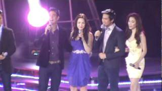 KC and Pj singing Dapat ka Bang MAhalin @Sharon`s Mega Concert 1-11-11