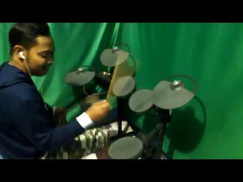 Drum Cover Terlatih Patah Hati - The Rain feat Endank Soekamti By Aguzrush