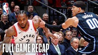 MAGIC vs RAPTORS | Kawhi Leonard's 37 Points Leads Toronto | Game 2