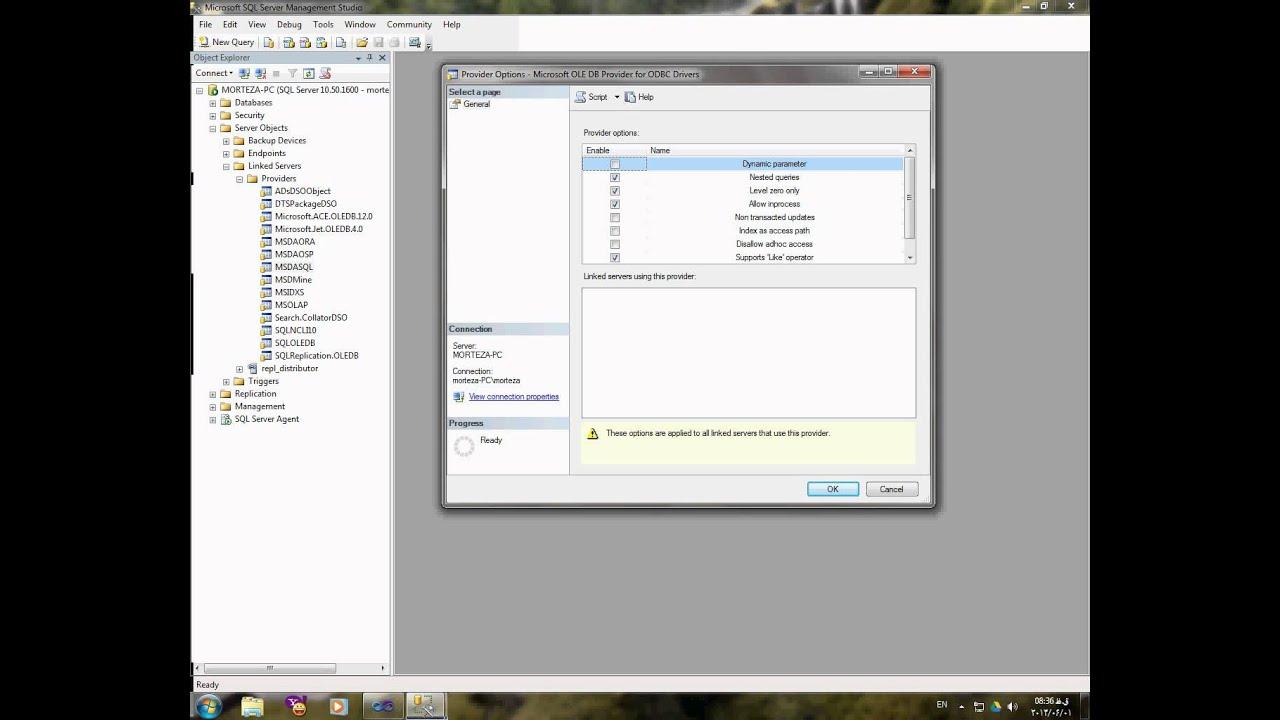 linked server problem - sql server & mysql