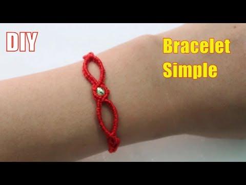 Hướng dẫn cách  làm vòng tay may mắn sợi chỉ đỏ | How to make bracelet simple