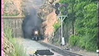 steam locomotive n 1218 blast out of christiansburg tunnel