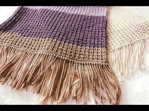 Fulare tricotate manual cu andrele