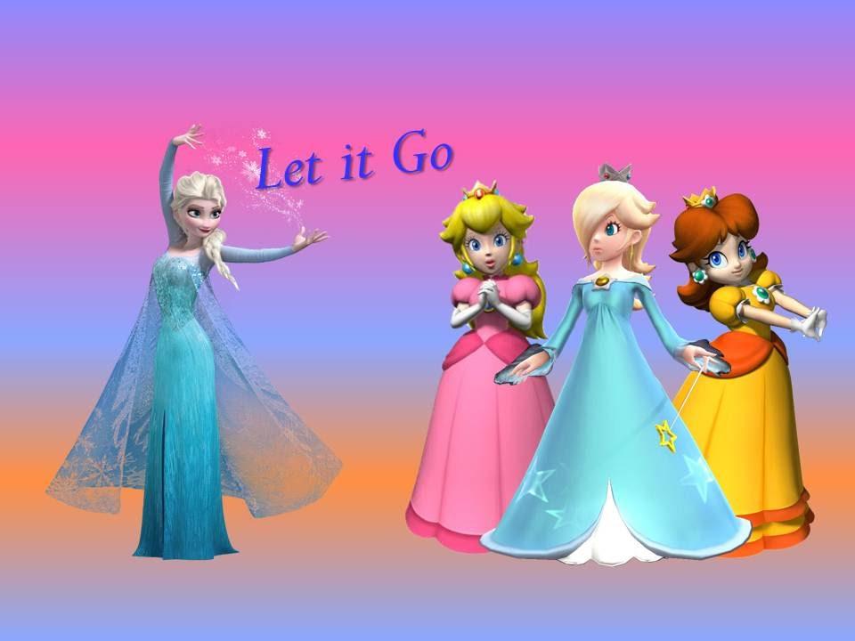 Rosalina Peach E Daisy Let It Go Elsa De Frozen Traduo DISNEYNINTENDO YouTube