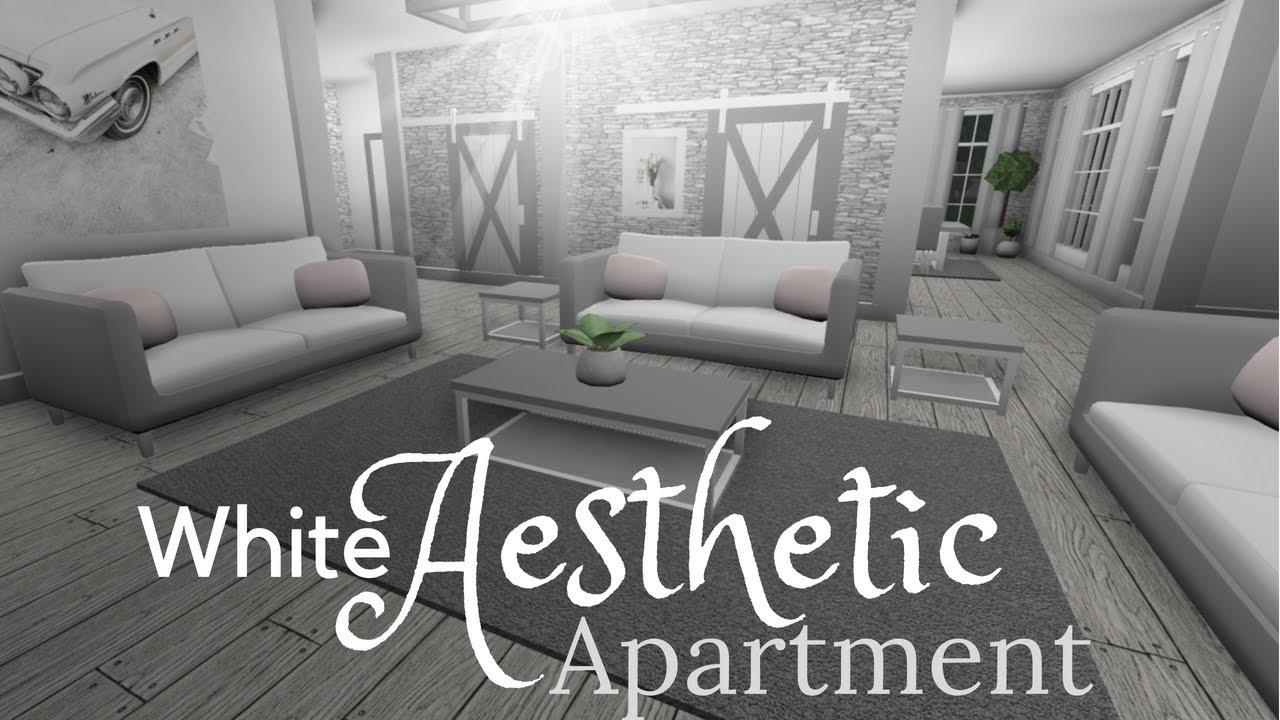 Bloxburg White Aesthetic Apartment 50k Youtube