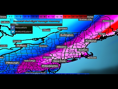 Major Nor'Easter Winter Storm Targets Northeast & New England : Feb 7, 2017