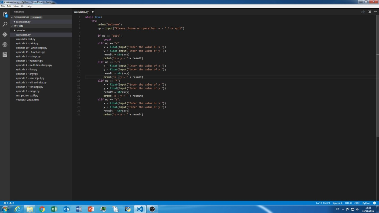 how to make a basic calculator with python 3