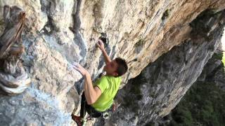 Rock climbing video - Ali Baba by Mathieu Bouyoud & climbers at Aiglun, France
