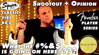 Squier Classic Vibe 60's Strat vs. Fender Player Strat - Shootout + Opinion