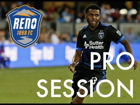 Professional Football/Soccer Training Session: Lindo Mfeka