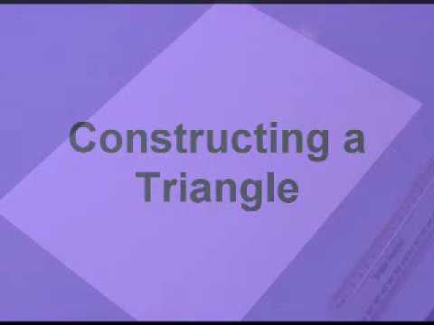 CONSTRUCTIONS a Triangle