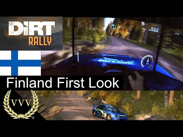 Dirt Rally Finland Gameplay First Look