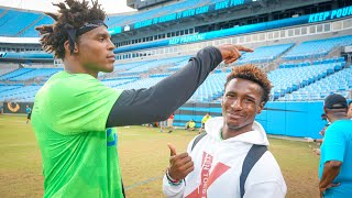 I ASKED CAM NEWTON TO LET ME PLAY ON HIS TEAM.. (HE TOLD ME I'M TRASH)