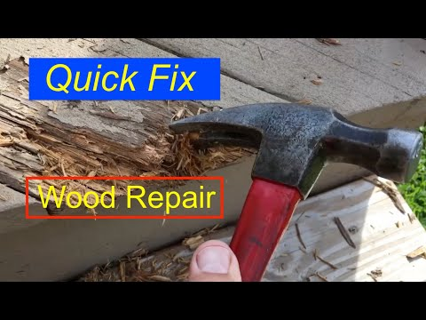 Rotten wood deck repair using Bondo