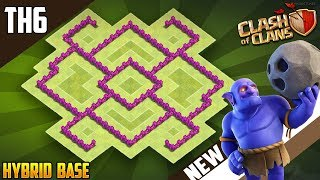 NEW Town Hall 6 (TH6) HYBRID Base Design 2018!! COC Best Th6 Hybrid Base Layout - Clash of Clans