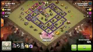 Clash of clans [Fallen Skies] th8 War attacks