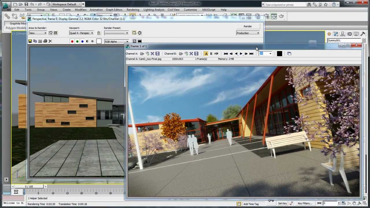 3ds max design 2013: interop with revit architecture 2013 - youtube