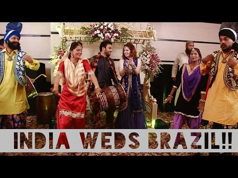 BRAZILIAN AND INDIAN MARRY AFTER MEETING ON INSTAGRAM!! -Sangeet