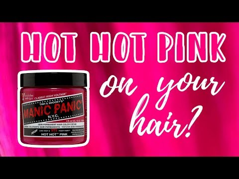 Manic Panic HOT HOT PINK | Hair Level Swatches