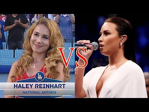 Demi Lovato Vs Haley Reinhart National Anthem 2017