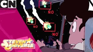 Steven Universe | Space Battle with Emerald | Cartoon Network