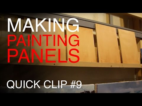 How to make Oil Painting Panels!