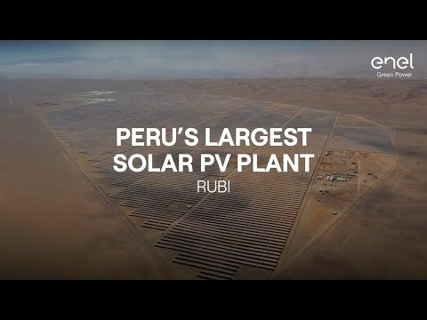 Enel Green Power Rubi, Peru's largest solar PV plant