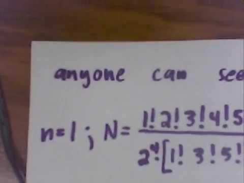 Latin Squares -- my discrete formula!