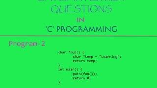 Program-2 | GATE/Interview Question in 'C' Programming