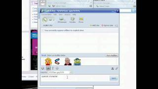Special Character yahoo messenger exploit
