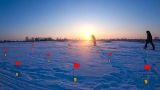 Пришел проверять ЖЕРЛИЦЫ во 2 день В СИЛЬНЫЙ МЕТЕЛЬ Зимняя рыбалка 2021