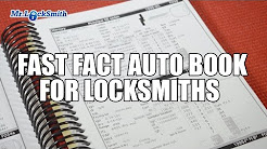 Fast Facts Auto Book for Locksmiths | Mr. Locksmith Training Video