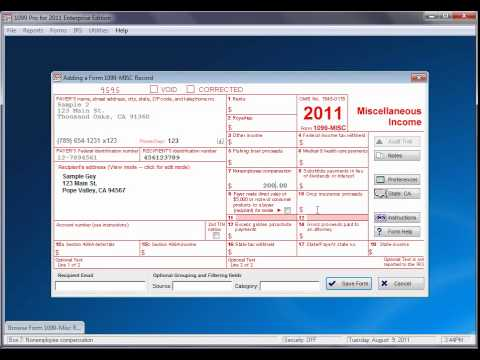 How To Add A Form With 1099 Pro Tax Software Youtube