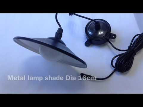 Solar Pendant Light with remote control