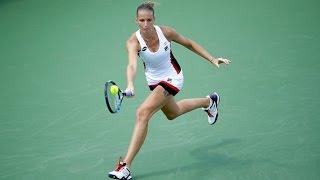 2016 western and southern open quarterfinals   karolina pliskova vs kuznetsova   wta highlights