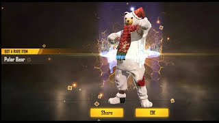 New legacy returns on free fire || polar bear || rare costume || mr gamer ||